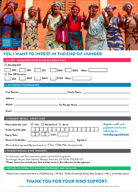 Pledge and Regular Giving Form